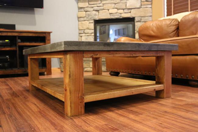 2 inch thick concrete counter