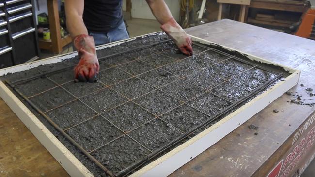 reinforcement for concrete counters