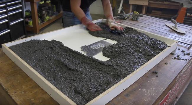 Making concrete counters