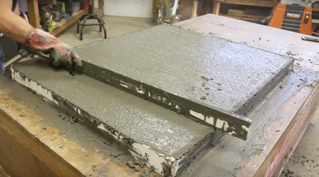 screeding concrete