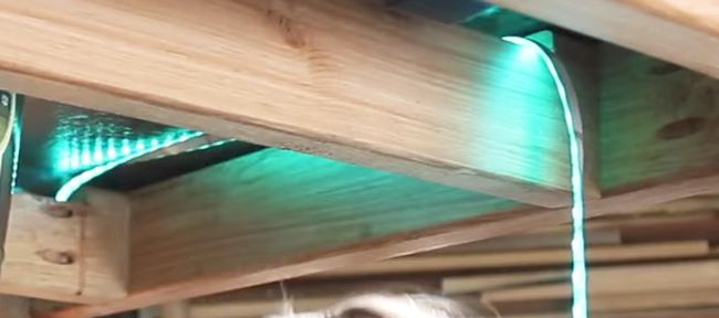 Running the LED's underneath the table