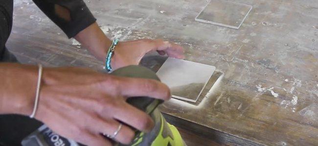 Sanding the Acrylic