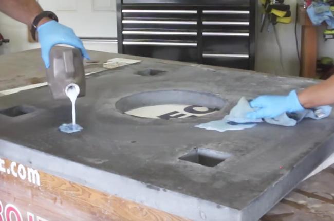 Applying sealer after sanding